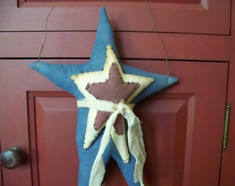 Primitive Americana Fabric Star Hanger/Greeter