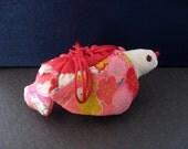 Bird  With Japanese Kimono Fabric,#1