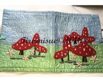 Toadstool Machine Embroidery Design for 200x200mm (8x8inch Hoop)
