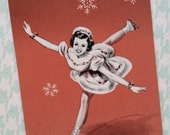 Adorable Vintage Kitsch Ice Skating Playing Cards