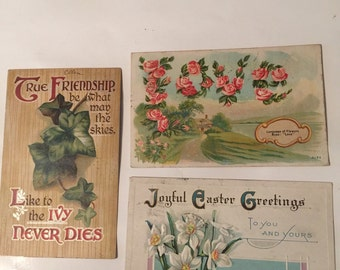 Lot of 3 Vintage Post Cards