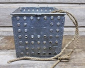 Industrial Vintage Wire Locker Basket