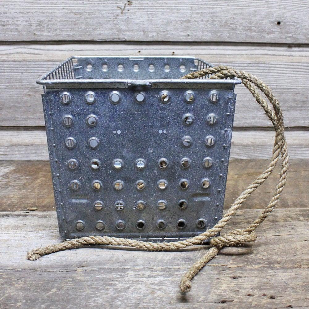 Industrial Vintage Wire Locker Basket