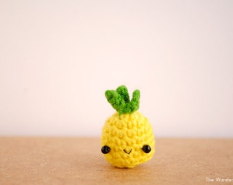 Pineapple keychain, kawaii keychain, a cute pineapple decor. Made to order.