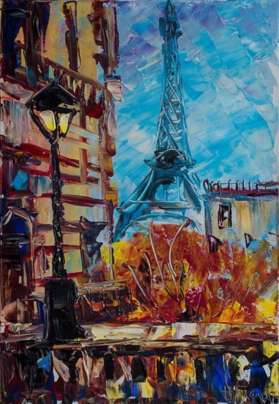 Paris eiffelturm kunst frankreich wand kunst malerei for Quadri di parigi