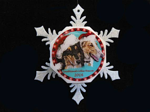 Southland Collie Rescue Fund Raising Christmas Ornament