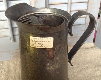 Vintage Water Pitcher Silver Pitcher Duncan's of London Historic Gay Pub Collectible