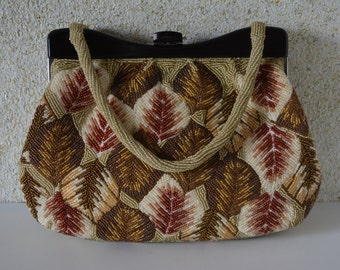 Beaded evening handbag, 1970s vintage Japanese