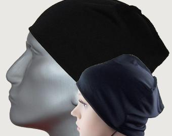 Luxury Night cap made of silk  - sleeping cap , Headcover Chemo