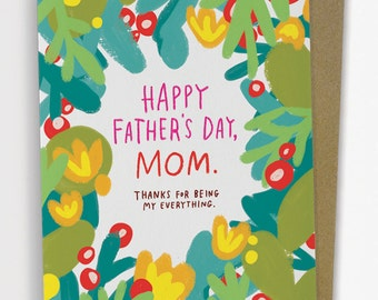 Father's Day, Mom Card/ Fathers Day Card No. 287-C