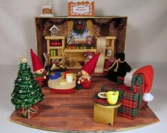 Santa's Workshop in Miniature