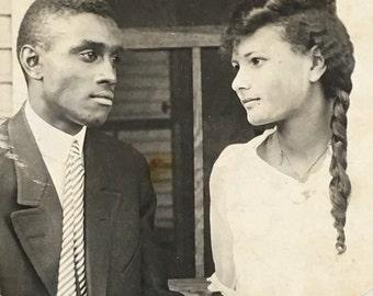 Claude & Gertrude Vintage Photo Beautiful Black Americana