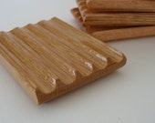 Wood Soap Dish, Handcrafted Reclaimed Oak Wood Soap Saver Dish