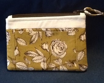 Zippered Double Pocket Change Purse
