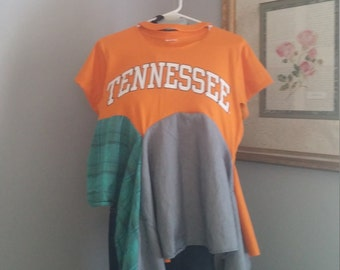 Upcycled baby lagenlook top...University of Tennessee..S-L...Upcycled college shirt..