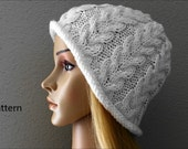 PDF Pattern, How To Knit A Horseshoe Cable Rib Hat