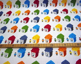 Cute Blocks Print Japanese Fabric  - 110cm x 50cm