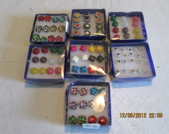 SALE 7 Boxes of Stud/Post Earrings