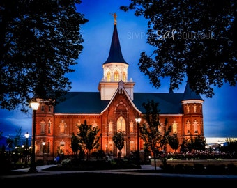 Provo City Center LDS Temple Photograph - Digital Download - Printable