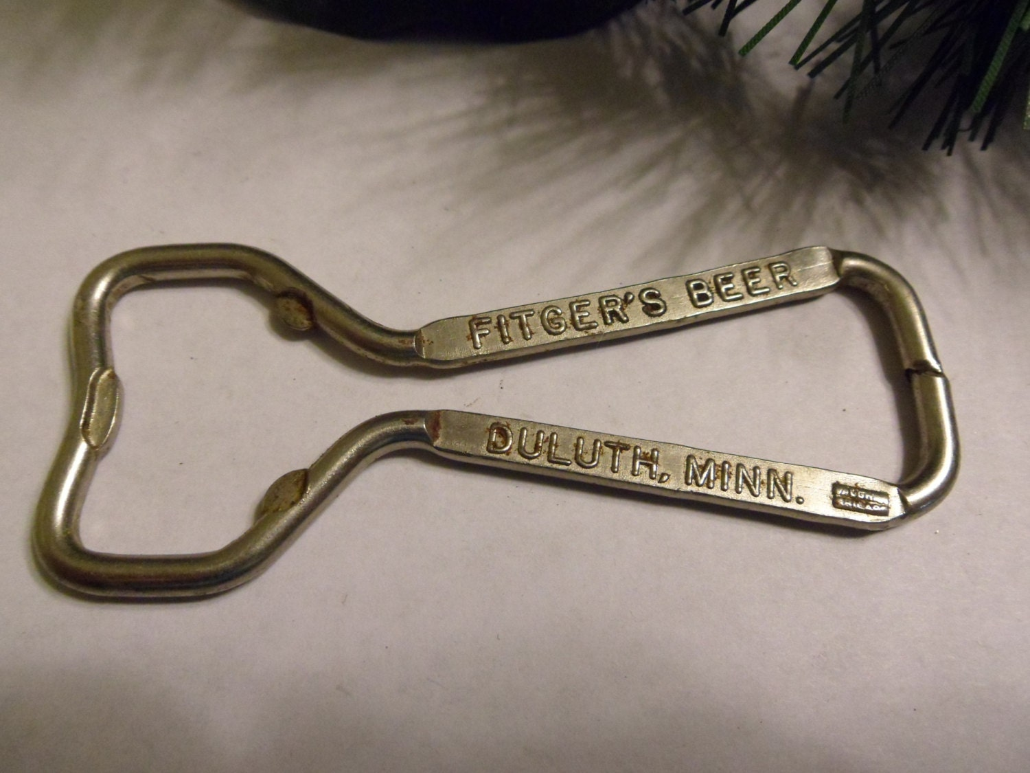 vintage fitgers beer bottle opener. Black Bedroom Furniture Sets. Home Design Ideas