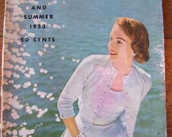 Vintage Vogue Knitting Book 1953 Spring and Summer.Vintage 1950's Knitting Patterns.