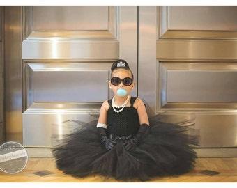 Girls Black Tutu Dress, Couture Black Girls Dress, Black Flower Girl Dress