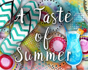 A Taste of Summer: Acrylic Mixed Media Workshop with Mimi Bondi (great for beginners!)