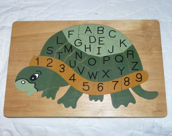 Alphabet and Number Turtle