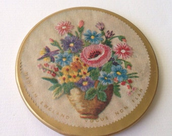 Vintage Pocket Mirror/ Made in England/ 1950-s