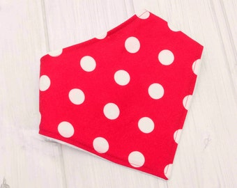 Trendy Baby Bibs - Dots - Baby Bibs - Red and White - 1461