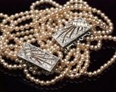 Vintage Art Deco Multi Strand Champagne Pearl & Rhinestone Necklace Bracelet Set Choker