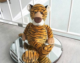 Large Russ Tiger Stuffed Animal / Collectible Beanie / Vintage Style Toy Doll