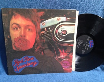 "Vintage, Paul McCartney - ""Red Rose Speedway"", Vinyl LP Record Album, Original 1973 First Press, My Love, Little Lamb Dragonfly, The Beatles"