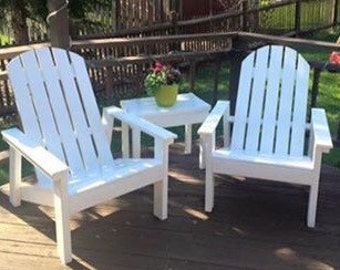 Adirondack chair, solid wood patio chair