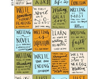 Hand-lettered Writing Inspirational Quote Stickers Version 2  Download
