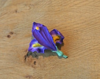 Iris Brooch Pin in a choice of colours