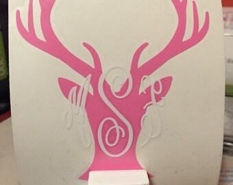 Oh Deer Monogram Decal