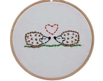 Embroidery Kit Hedgies in Love Beginner Sewing Project