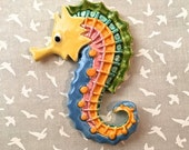 DOLLAR STORE Rainbow Seahorse - Mosaic or Jewelry Supply