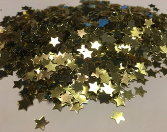bag of small gold star confetti , 7 mm (21)