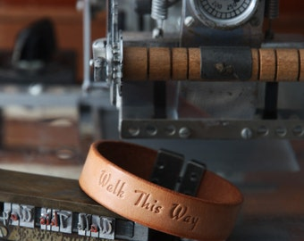 Personalized Leather Bracelet, Premium Italian Full Grain Leather, Birthday Gift, Free Shipping