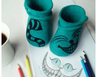 Felted booties for a toddler