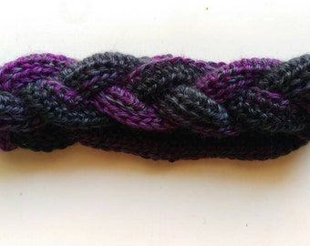 50 Shades of Purple Braided Crochet Ear Warmer Headband