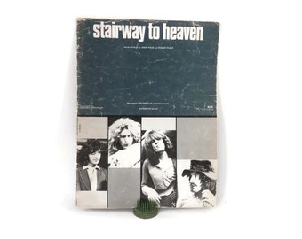 1972 Stairway to Heaven Sheet Music Led Zeppelin Superhype Music