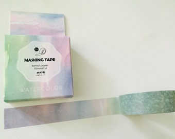 Watercolor Ombre Boxed Washi Tape