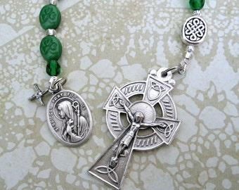 St. Bridget of Ireland Shamrocks One Decade Pocket Rosary