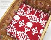 "Skulls Lycra Cotton Knit Fabric - 70"" Wide - By the Yard - 40828 GJ"