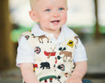 Children clothing - Boys clothing Camping waistcoat...sizes 6m - 5 years kids children clothing vest girlsandboys