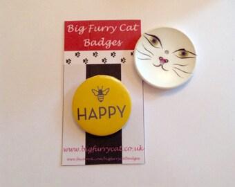 Bee happy badge