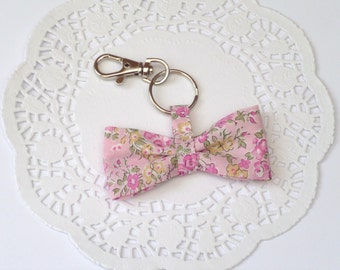 NEW - Fabric Bow Keychain in Liberty Fabric